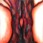 Oilpaint on canvas 2x40*80cm (tweeluik) prijs op aanvraag-