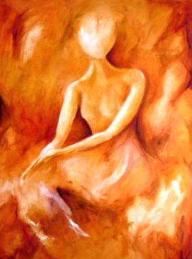 woman oilpaint by elra