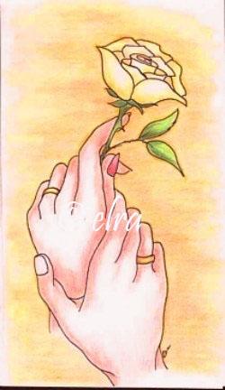 Illustratie huwelijkskaart